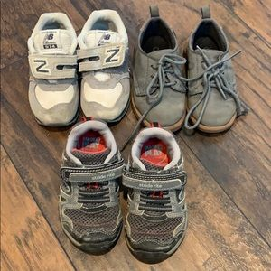 3 Pairs of Toddler Boys Shoes